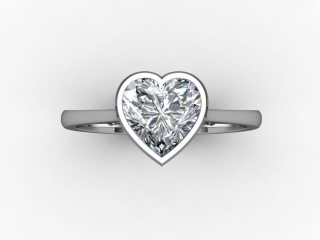 Certificated Heart Shape Diamond Solitaire Engagement Ring in Palladium - 9