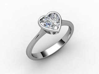 Certificated Heart Shape Diamond Solitaire Engagement Ring in Palladium - 12