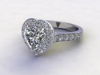 Certificated Heart Shape Diamond in Palladium-09-6600-8948