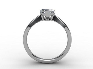 Certificated Heart Shape Diamond Solitaire Engagement Ring in Palladium - 3
