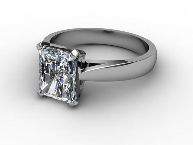 Certificated Radiant-Cut Diamond Solitaire Engagement Ring in Platinum