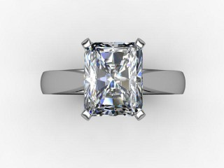 Certificated Radiant-Cut Diamond Solitaire Engagement Ring in Platinum - 9