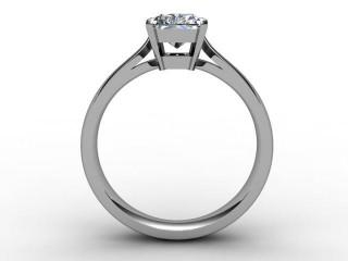 Certificated Radiant-Cut Diamond Solitaire Engagement Ring in Platinum - 3