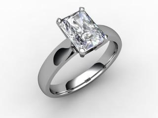 Certificated Radiant-Cut Diamond Solitaire Engagement Ring in Platinum - 12