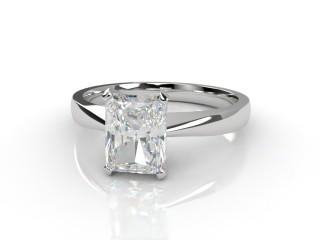 Certificated Radiant-Cut Diamond Solitaire Engagement Ring in Platinum