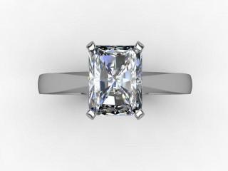 Certificated Radiant-Cut Diamond Solitaire Engagement Ring in Platinum - 9