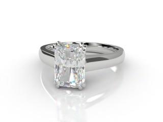 Certificated Radiant-Cut Diamond Solitaire Engagement Ring in Platinum-10-0100-0011