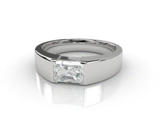 Certificated Radiant-Cut Diamond Solitaire Engagement Ring in Platinum-10-0100-6118