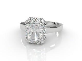 Certificated Radiant-Cut Diamond in Platinum