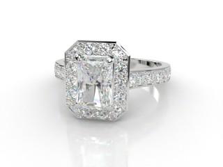 Certificated Radiant-Cut Diamond in Platinum-10-0100-8911