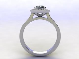 Certificated Radiant-Cut Diamond in Platinum - 3