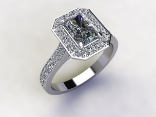 Certificated Radiant-Cut Diamond in Platinum - 12