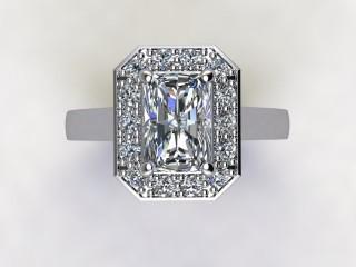 Certificated Radiant-Cut Diamond in Platinum - 9