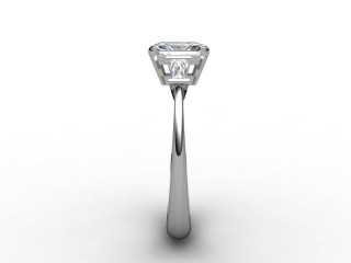 Certificated Radiant-Cut Diamond in Platinum - 6