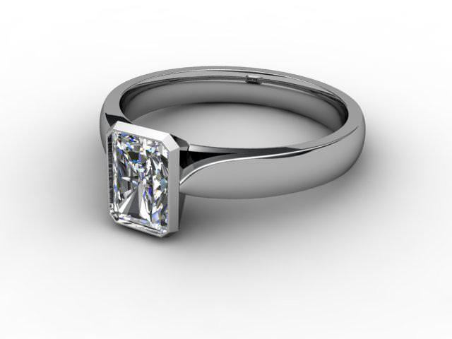 Certificated Radiant-Cut Diamond Solitaire Engagement Ring in Platinum - Main Picture