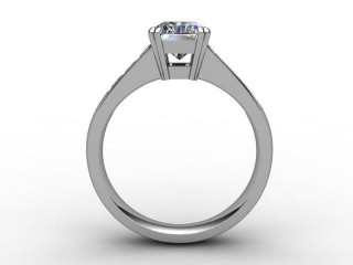 Certificated Radiant-Cut Diamond in Platinum - 3