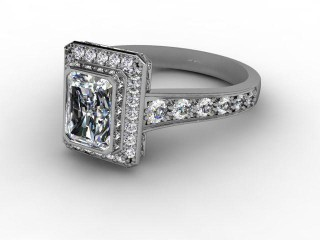 Certificated Radiant-Cut Diamond in Platinum