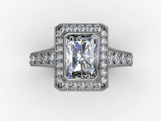 Certificated Radiant-Cut Diamond in Platinum - 9