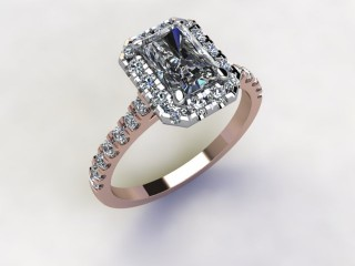 Certificated Radiant-Cut Diamond in 18ct. Rose Gold - 12