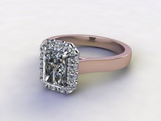 Certificated Radiant-Cut Diamond in 18ct. Rose Gold