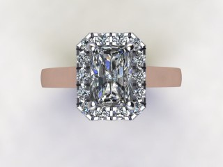 Certificated Radiant-Cut Diamond in 18ct. Rose Gold - 9