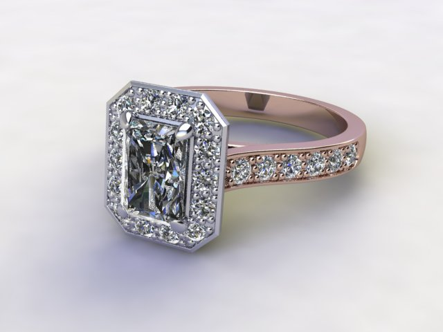Certificated Radiant-Cut Diamond in 18ct. Rose Gold - Main Picture