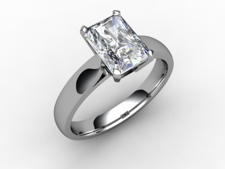 Certificated Radiant-Cut Diamond Solitaire Engagement Ring in 18ct. White Gold - 12