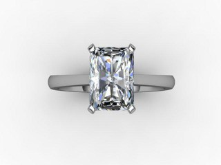 Certificated Radiant-Cut Diamond Solitaire Engagement Ring in 18ct. White Gold - 9