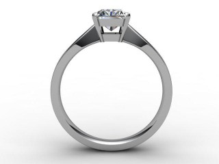 Certificated Radiant-Cut Diamond Solitaire Engagement Ring in 18ct. White Gold - 3