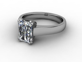 Certificated Radiant-Cut Diamond Solitaire Engagement Ring in 18ct. White Gold-10-0500-0011
