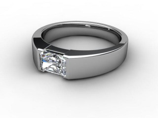 Certificated Radiant-Cut Diamond Solitaire Engagement Ring in 18ct. White Gold-10-0500-6118