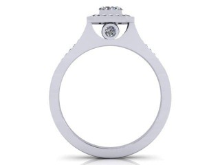 Certificated Radiant-Cut Diamond in 18ct. White Gold - 3