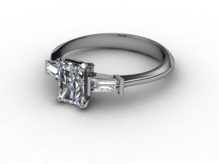 Certificated Radiant-Cut Diamond in 18ct. White Gold-10-0502-0002