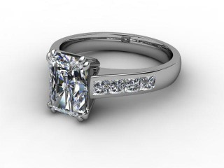 Certificated Radiant-Cut Diamond in 18ct. White Gold