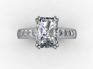 Certificated Radiant-Cut Diamond in 18ct. White Gold - 9