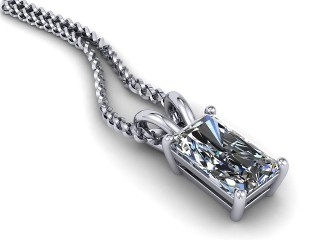 Certified Radiant-Cut Diamond Pendant-10-05911