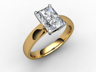 Certificated Radiant-Cut Diamond Solitaire Engagement Ring in 18ct. Gold - 12