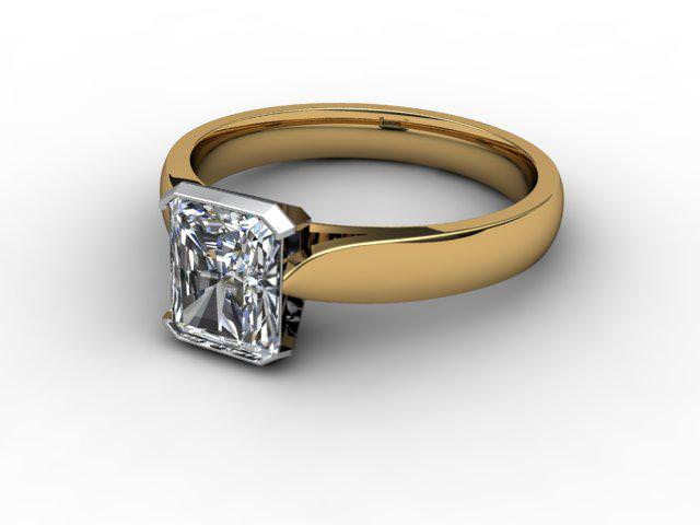 Certificated Radiant-Cut Diamond Solitaire Engagement Ring in 18ct. Gold - Main Picture