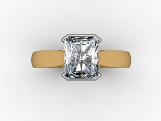 Certificated Radiant-Cut Diamond Solitaire Engagement Ring in 18ct. Gold - 9