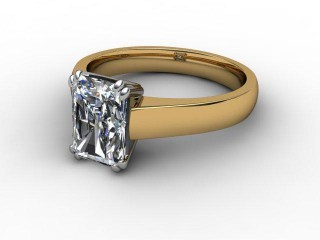 Certificated Radiant-Cut Diamond Solitaire Engagement Ring in 18ct. Gold