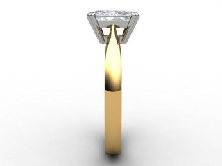 Certificated Radiant-Cut Diamond Solitaire Engagement Ring in 18ct. Gold - 6