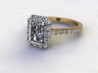 Certificated Radiant-Cut Diamond in 18ct. Gold-10-2800-8909