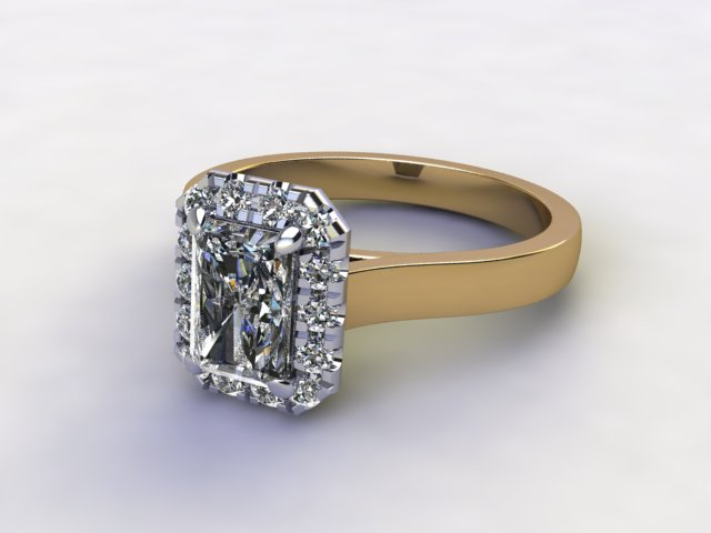 Certificated Radiant-Cut Diamond in 18ct. Gold