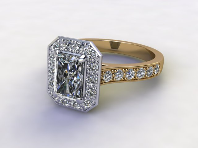 Certificated Radiant-Cut Diamond in 18ct. Gold - Main Picture