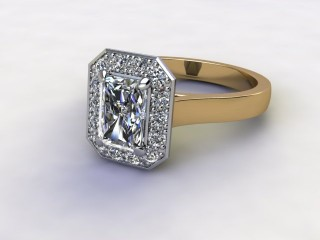 Certificated Radiant-Cut Diamond in 18ct. Gold-10-2800-8912