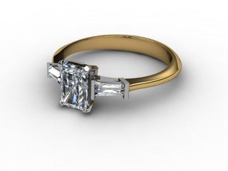 Certificated Radiant-Cut Diamond in 18ct. Gold-10-2802-0002
