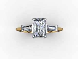 Certificated Radiant-Cut Diamond in 18ct. Gold - 12