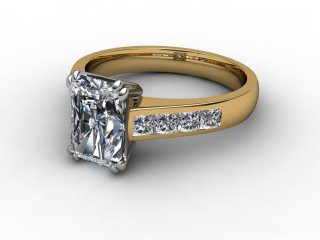 Certificated Radiant-Cut Diamond in 18ct. Gold-10-2808-0012