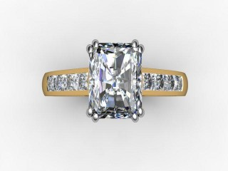 Certificated Radiant-Cut Diamond in 18ct. Gold - 9