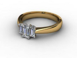 Trilogy 18ct. Yellow Gold Radiant-Cut Diamond-10-2833-2306